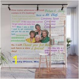 golden girl quotes wall murals