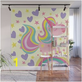 the magical rainbow unicorn wall murals