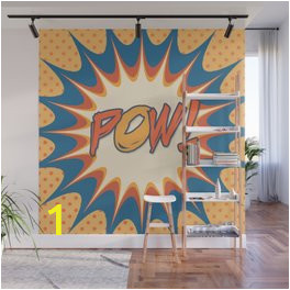 pow polka dot vintage graphic novel art wall murals