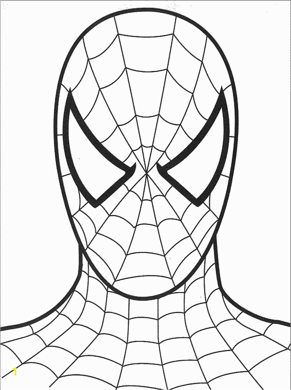 ecac92b430f99f2c18cc e7083 28 collection of spiderman coloring pages face high quality 1000 1340