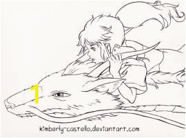 Spirited Away Coloring Pages Spirited Away Chihiro and Haku by Kimberly Castello