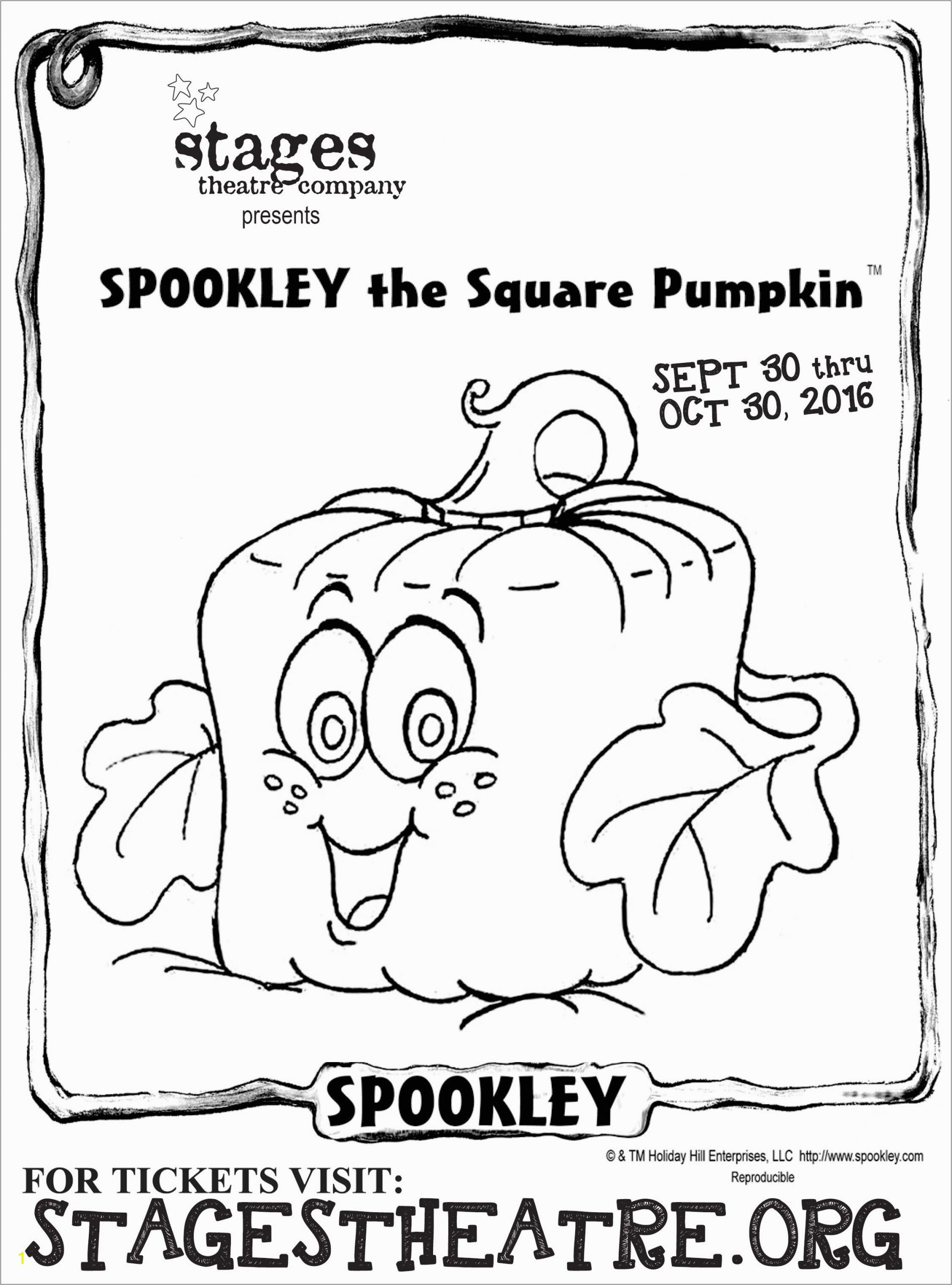 Spookley the Square Pumpkin Coloring Page Coloring Sheet for Spookley the Square Pumpkin