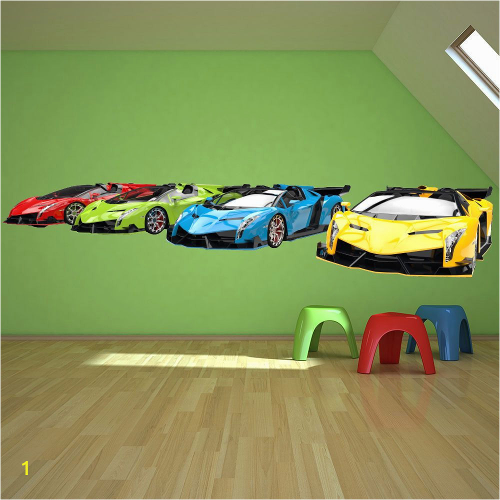 Sports Car Wall Murals Details About Sports Cars Transport Wall Decal Sticker Ws