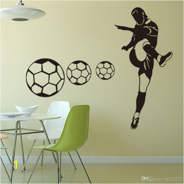 Sports Wall Murals Cheap Football Sports Wall Stickers Wallpapers Waterproof Pvc Wall Decals Murals Can Be Removable Self Adhesive Boy Bedroom Background Decoration Stickers