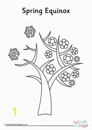 spring equinox colouring page 460