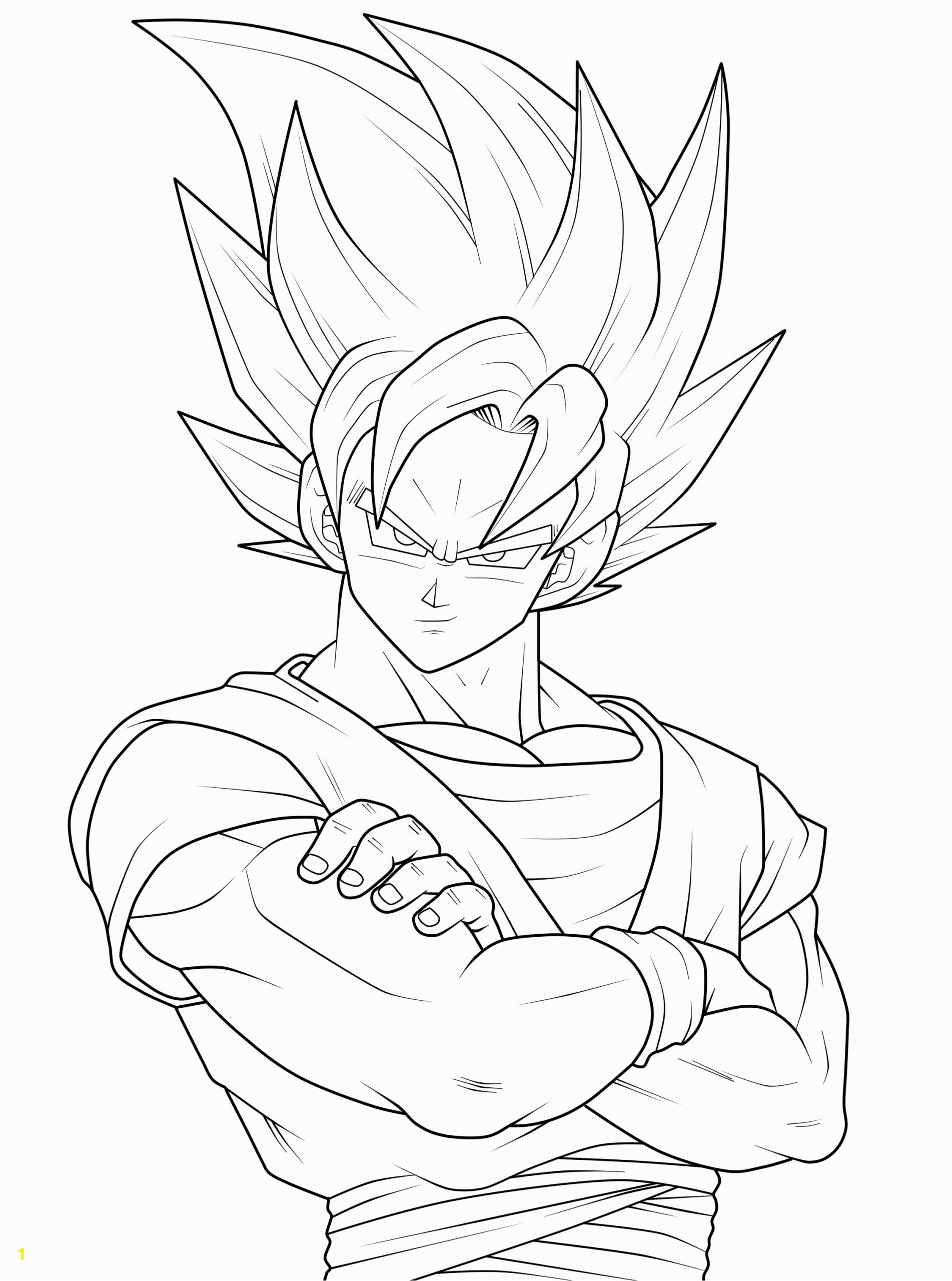 Goku Super Saiyan Dragon Ball Z Coloring Pages