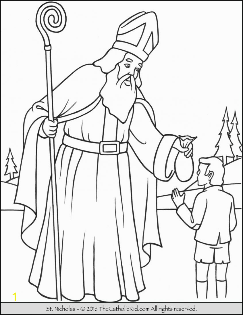 saint coloring thecatholickid december worksheets sheets for kids unicorn halloween pokemon paw patrol adult dinosaur pictures to color by number printable girls 846x1095