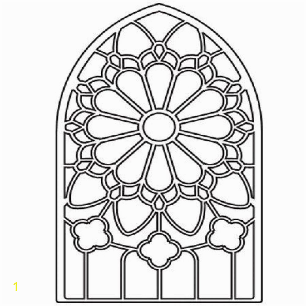 Stained Glass Window Coloring Pages Stained Glass Window Coloring Pages