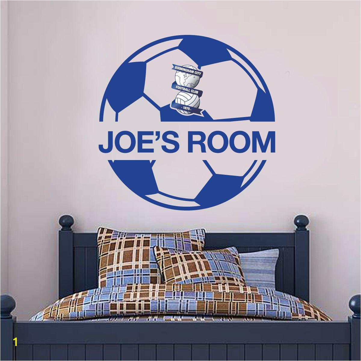 Stamford Bridge Wall Mural Birmingham City F C Ball Design & Personalised Name Wall