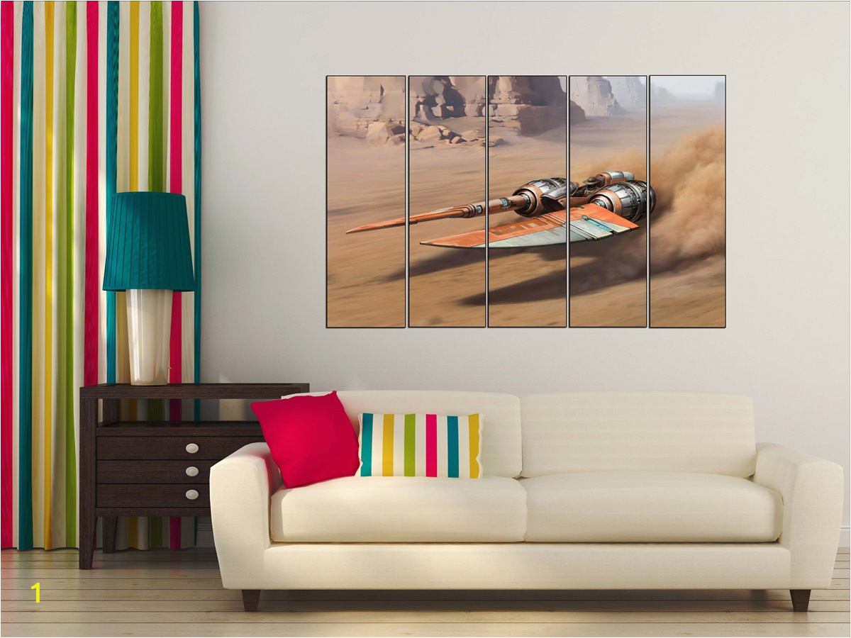 Star Wars Bedroom Wall Murals Star Wars Podracer Canvas Poster Podracer Canvas Wall Art Poster Besthomedesign