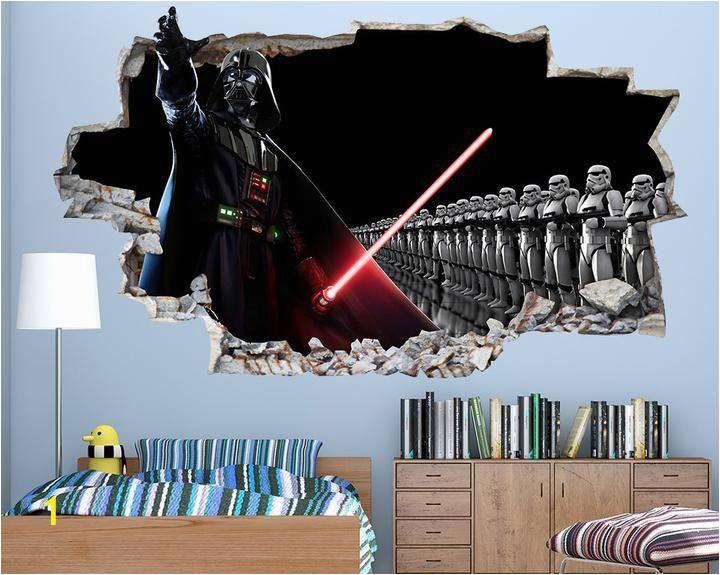 Star Wars Wall Mural Art Decal Cool Star Wars Boys Bedroom Decal Vinyl Wall Sticker Q046