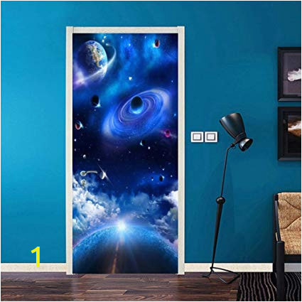Starry Night Wall Mural Amazon Pbldb Pvc Wallpaper Modern Universe Starry Sky