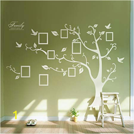 Stick On Murals for Walls Uk Huge White Frame Wall Stickers Memory Tree Wall Decals Decor Vine Branch Removable Pvc Stickers Murals