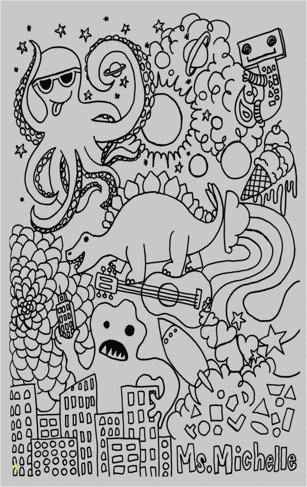 childrens printable coloring pages stress relief for adults fox preschoolers cute anime girl colouring heaven books therapeutic house giant christmas stranger things book colorama all 1024x1623