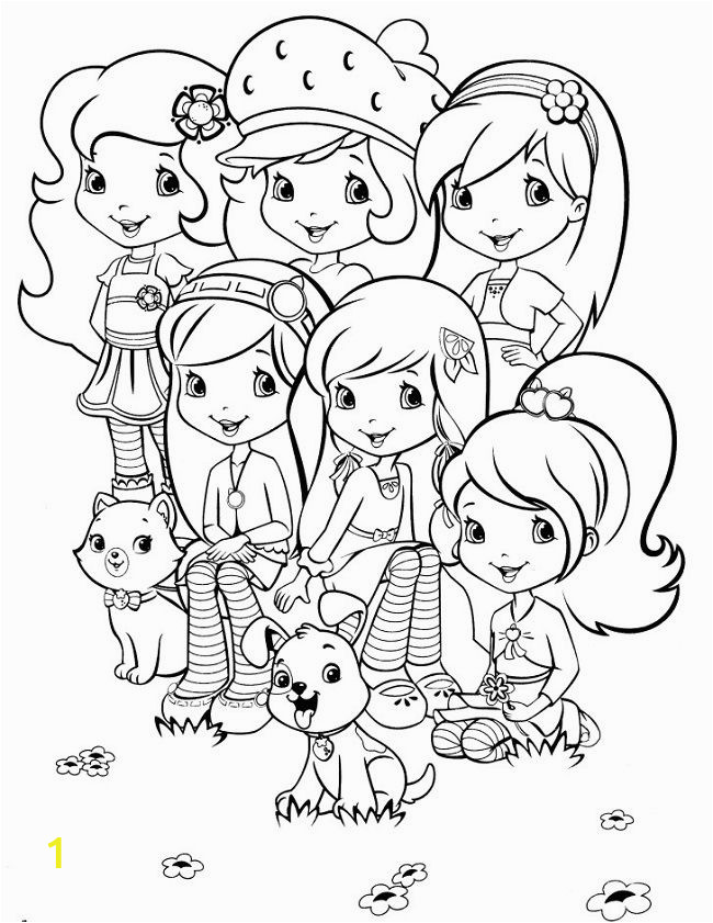 Strawberry Shortcake Cartoon Coloring Pages Strawberry Shortcake Princess Coloring Page