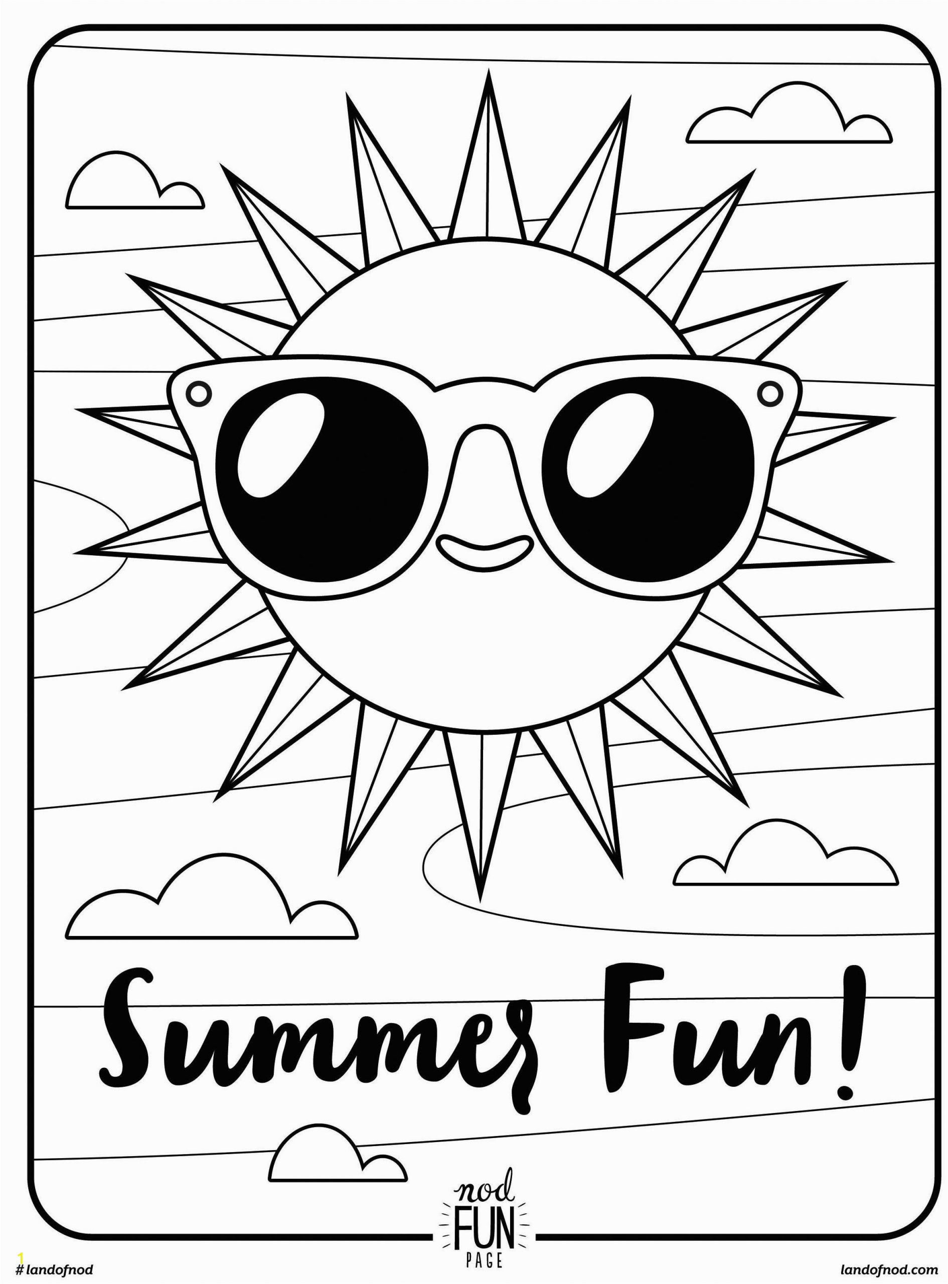Summer Printable Coloring Pages for Kids Free Printable Coloring Page Summer Fun