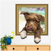 cute dog wall stickers vinyl animal wall