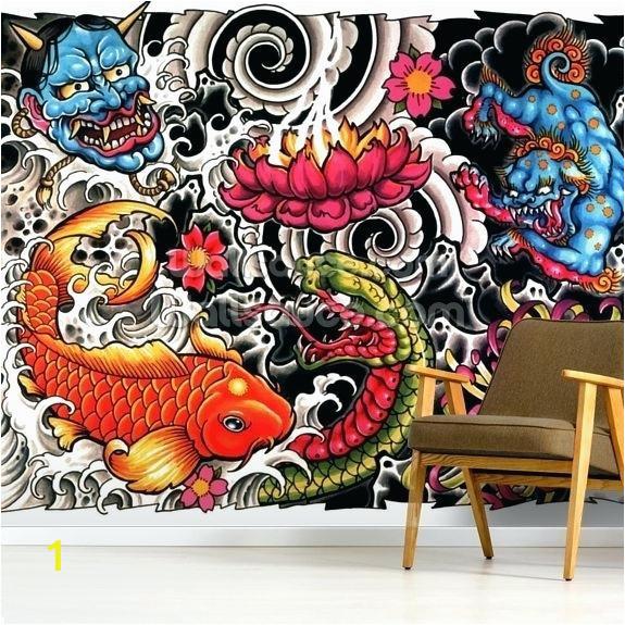 tattoo wall art tattoo mural wallpaper room setting tattoo wall decor