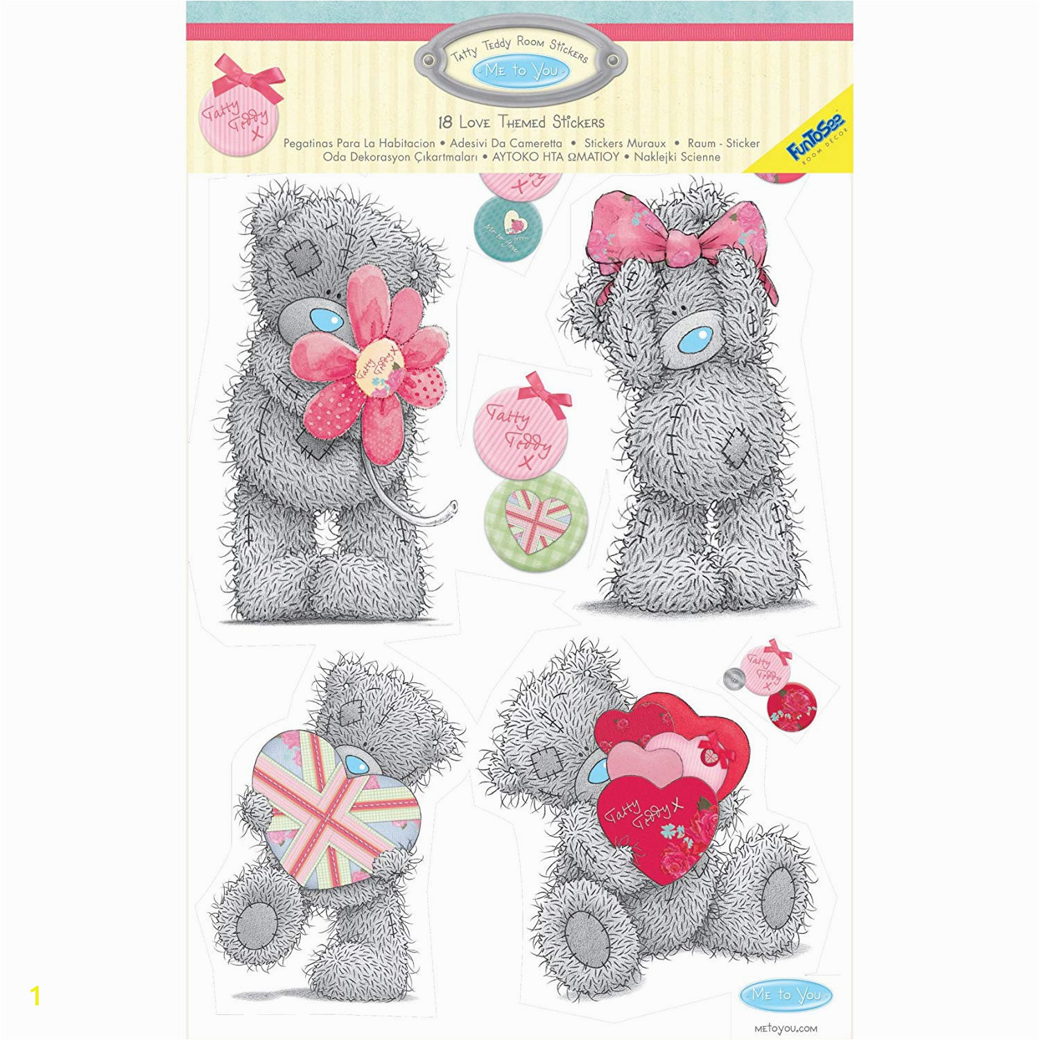 Tatty Teddy Wall Mural Funtosee Tatty Teddy Tea Party Wandaufkleber