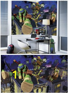 1e8dbef151ac32a08dac7c1f6e0b85e5 mural wall teenage mutant ninja turtles