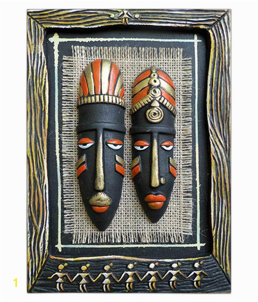 Tatvam Terracotta Handmade Tribal Face SDL 1 dc9f6