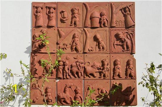 terracotta tiled wall