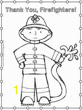 Thank You Fireman Coloring Page First Grade Health Fire Safety Coloring Pages
