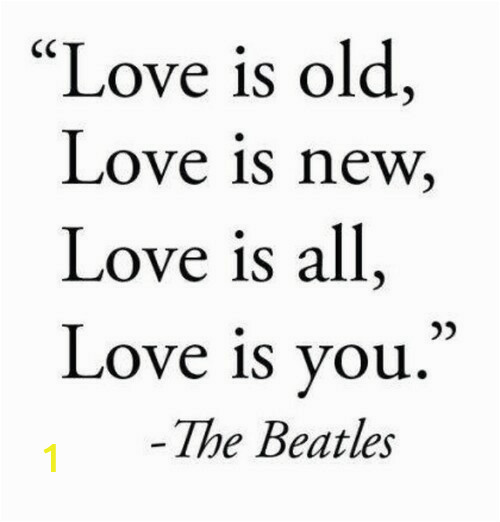 love neu love is old love is new love is all love is you 0d the beatles of love