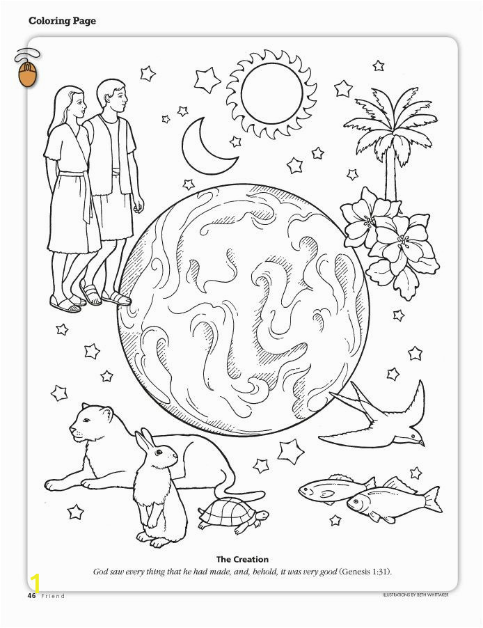 The Creation Coloring Pages Printable Coloring Pages From the Friend A Link to the Lds