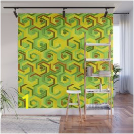 back in the 60s neon green wall murals