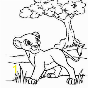 The Lion King Coloring Pages Free Simba Sleeping On Branch Of Tree Lion King Coloring Page
