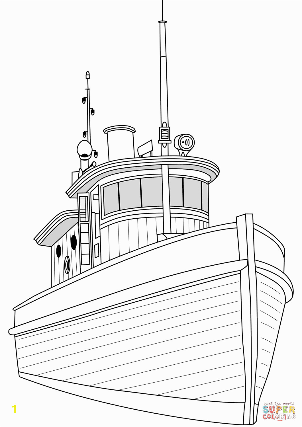 perfect tugboat coloring page vintage free printable pages