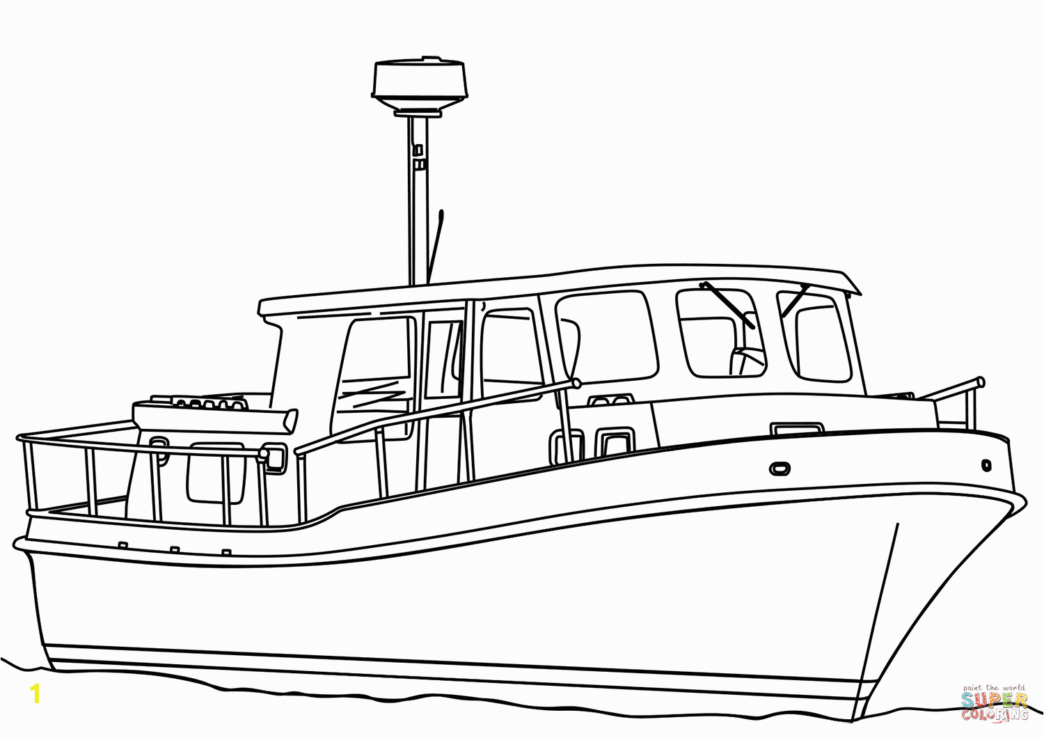 remarkable tugboat coloring page trawler boat free printable pages