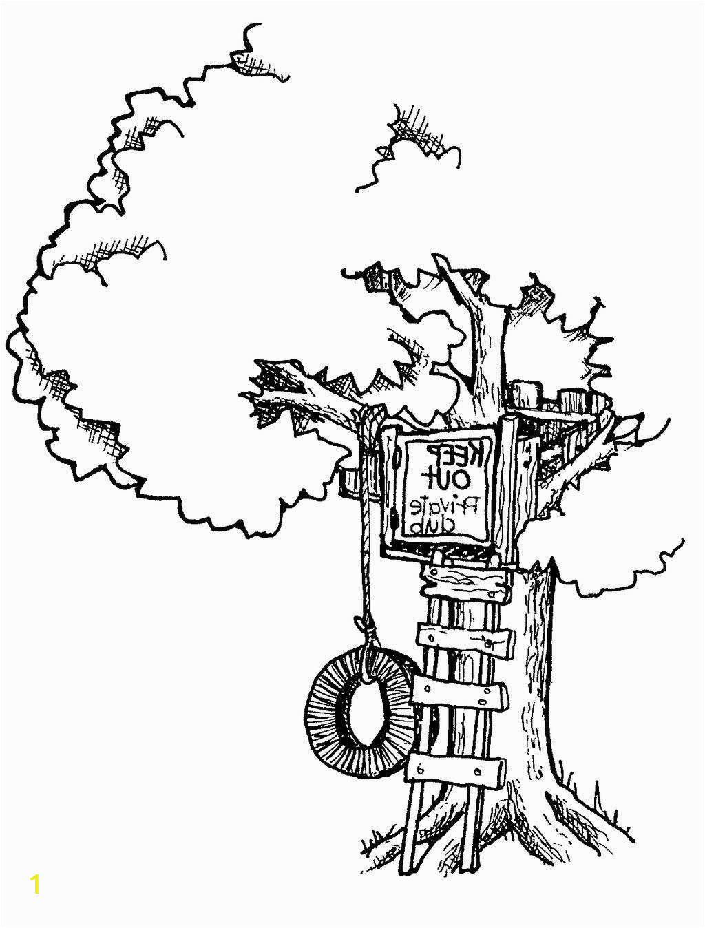 wonderful treehouse coloring pages tree house awesome book sheets kidcolorings