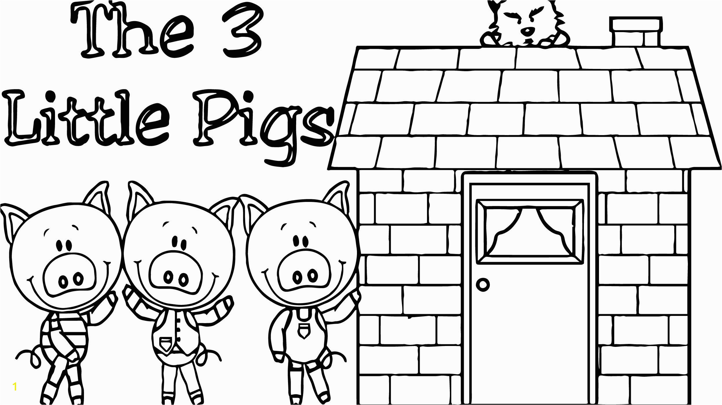 fabulous three little pigs coloring pages cool house page