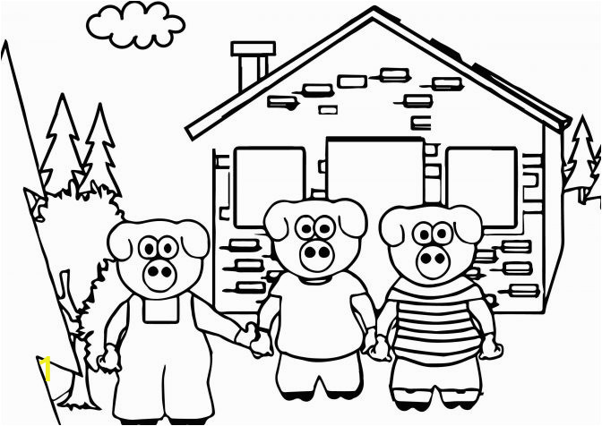 coloring pages three little pigs to print for kids pdf true story of 672x476