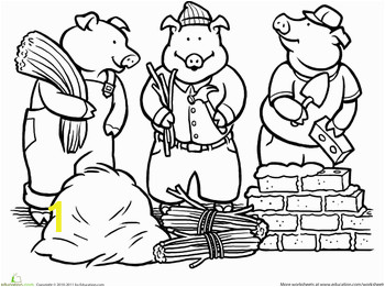 Three Little Pigs Coloring Pages Pdf Color the Three Little Pigs