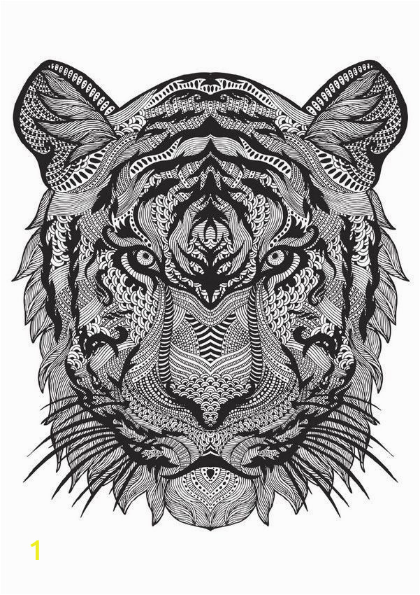 tiger head coloring fresh the 15 biggest trends in adult colouring this year of tiger head coloring