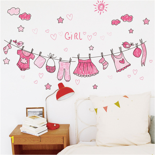 bathroom clothes wall stickers nursery girls bedroom wall decals home decor poster mural kids t 640x640