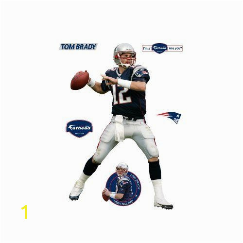 Tom Brady Wall Mural Amazon Fathead tom Brady New England Patriots Wall