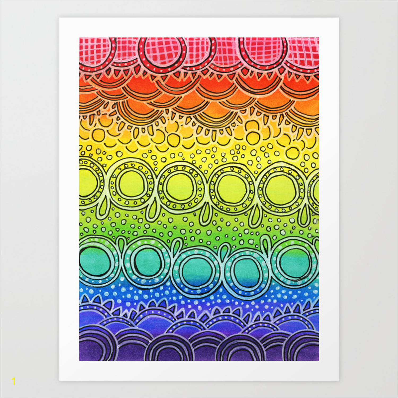 rainbow doodle prints