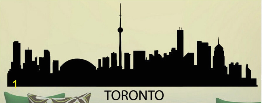 TORONTO Skyline Wall Sticker City Skyline Building Wall Decal Bedroom City Skyline Wall Art Sticker Home
