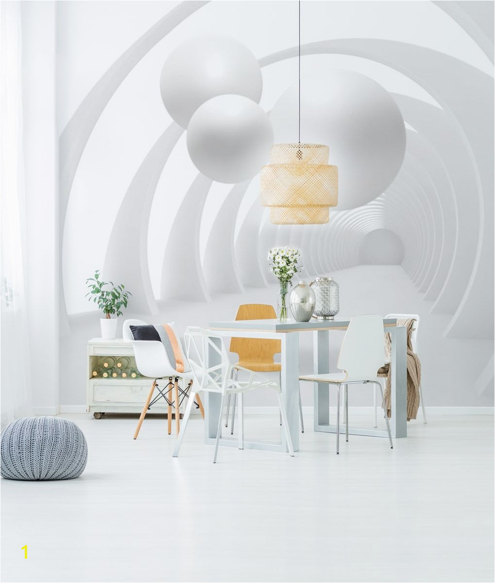 Touch Of Modern Wall Mural Wall Mural White Tunnel