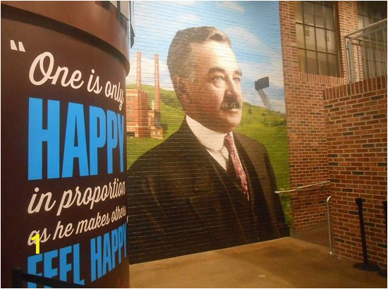 a wall mural of mr hershey