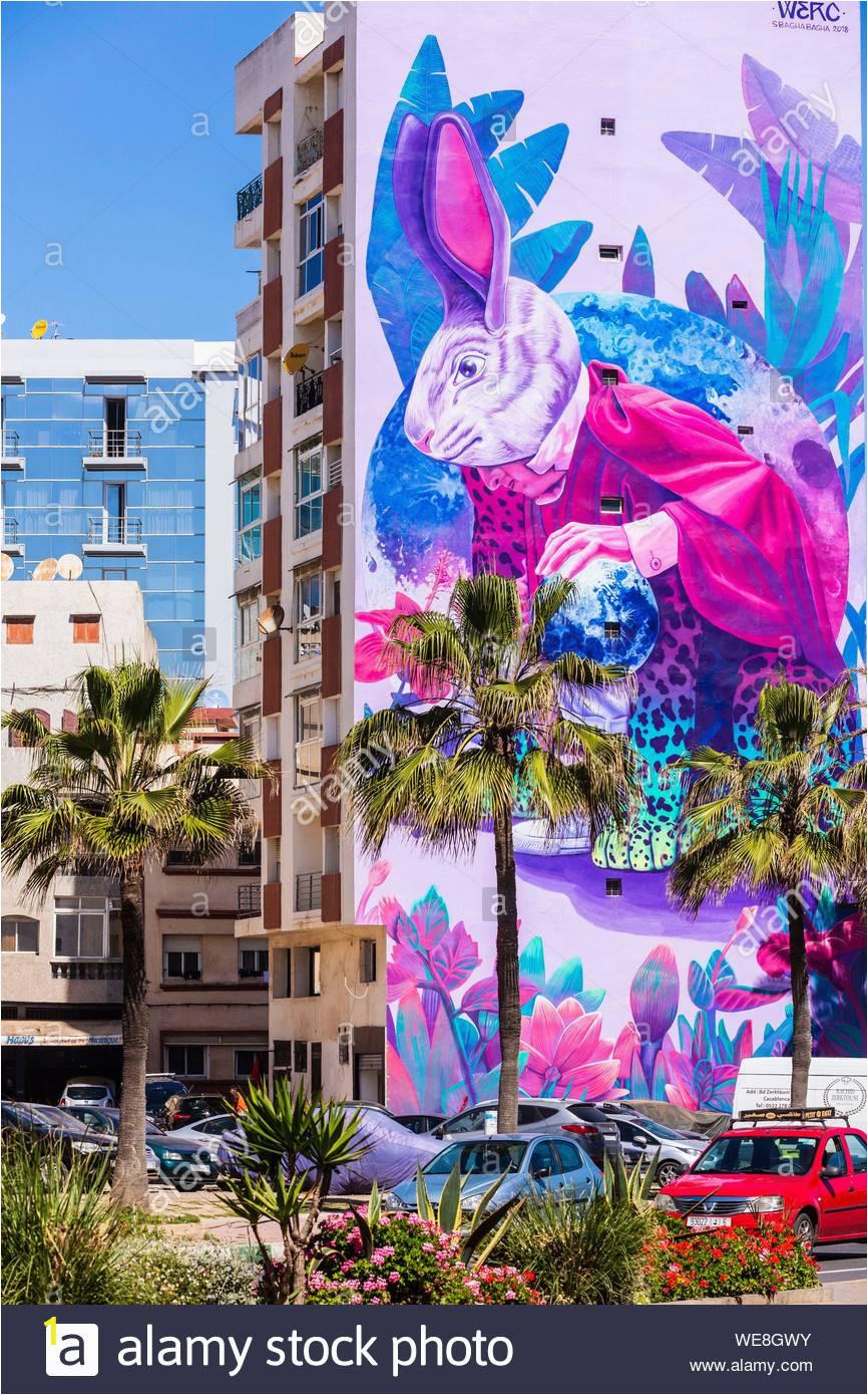 morocco casablanca mural boulevard mohammed zerktouni WE8GWY