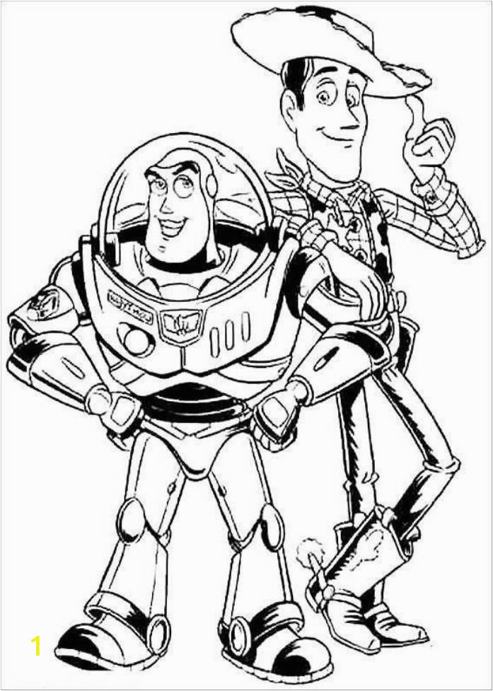 Toy Story Gang Coloring Pages Print Buzz Lightyear and Woody Sheriff toy Story Coloring