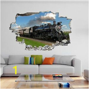 Train Wall Mural Stickers Vintage Retro Steam Train Lo Otive Wall Sticker Mural