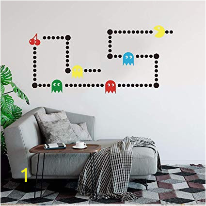 Transfer Paper for Wall Murals Amazon Pacman Game Wall Decal Retro Gaming Xbox Decal