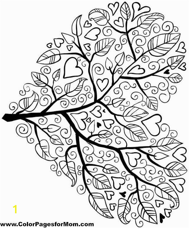 Tree Coloring Pages for Adults Tree Coloring Page 5