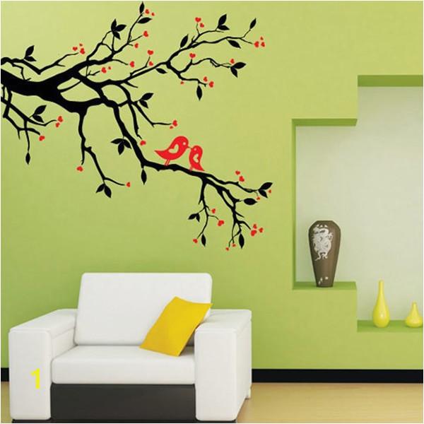 Art Mural Wall Sticker Home fice Bedroom Decor Vinyl Wall Stickers Decal Love Heart Tree Bird